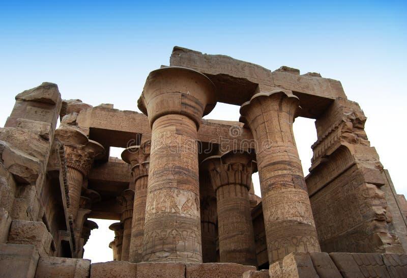 考姆翁布,埃及寺庙的废墟  库存照片