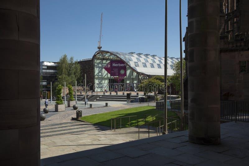 考文垂、沃里克郡、英国、2019年6月27日,赫伯特美术馆和博物馆 免版税库存图片