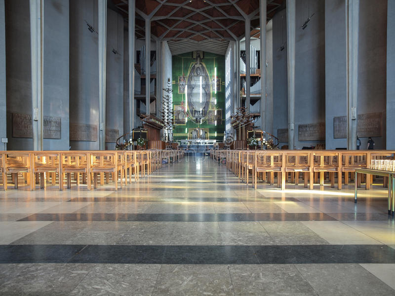 考文垂大教堂在考文垂 库存图片