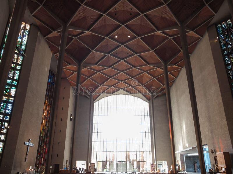 考文垂大教堂在考文垂 免版税库存图片