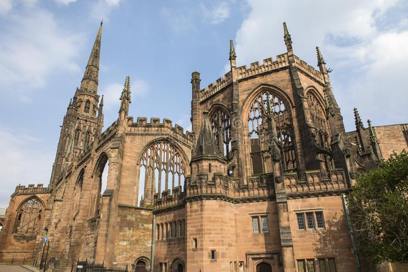 考文垂大教堂在英国 免版税库存图片