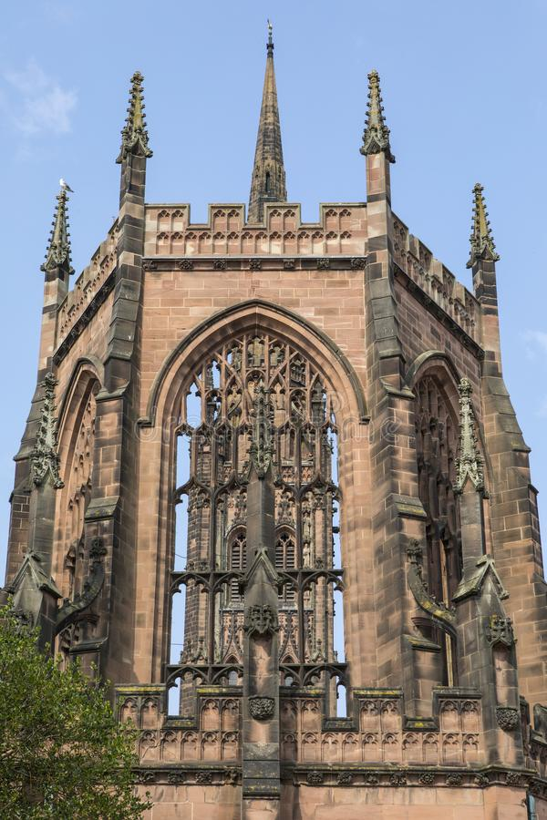 考文垂大教堂在英国 免版税库存照片
