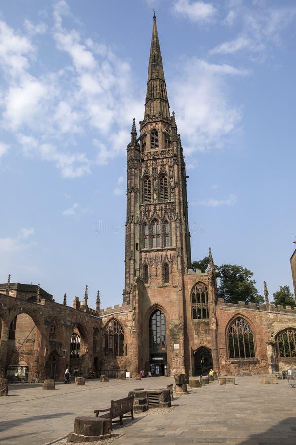 考文垂大教堂在英国 免版税图库摄影