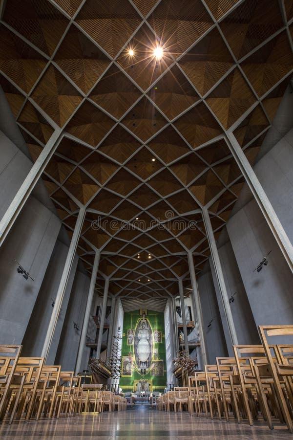 考文垂大教堂在英国 库存图片