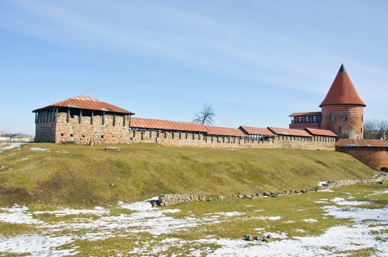 考纳斯中世纪城堡在立陶宛 库存图片