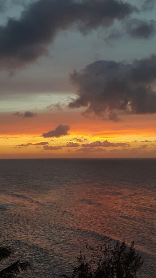 考艾岛日落 库存图片