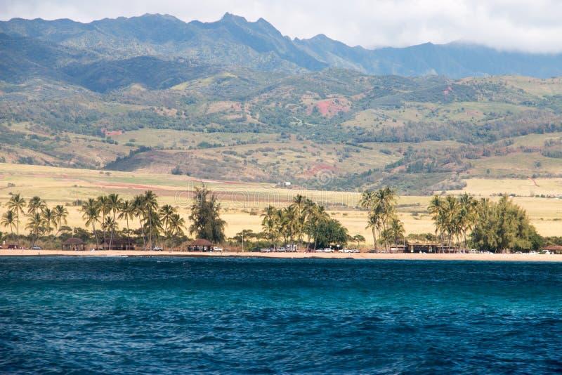 考艾岛海岛壮观的看法  免版税库存图片