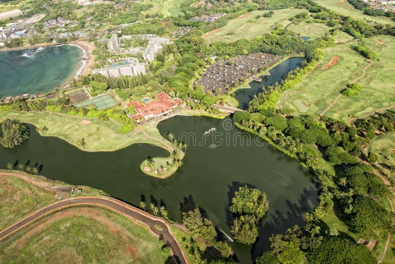 考艾岛高尔夫球场在夏威夷 库存图片