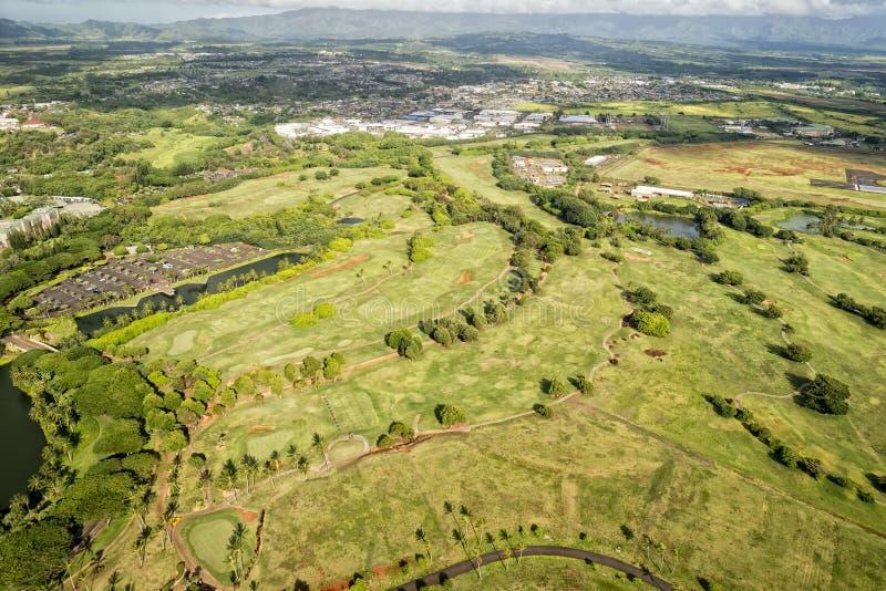 考艾岛高尔夫球场在夏威夷 免版税图库摄影