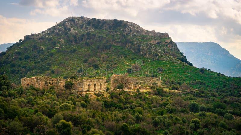 考诺斯考努斯古城遗址 古罗马剧院外观 达利扬,穆格拉,土耳其 库存照片