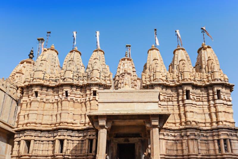 耆那教的寺庙, Jaisalmer 库存照片