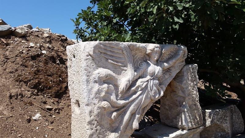 耐克希腊女神雕象  免版税库存照片
