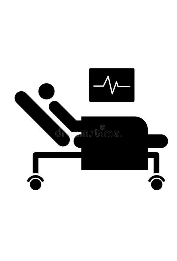 耐心床象 向量例证