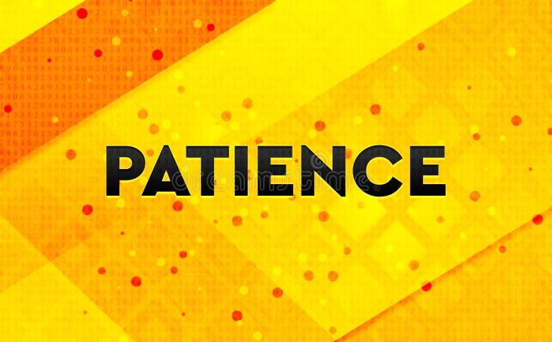 耐心抽象数字横幅黄色背景 皇族释放例证