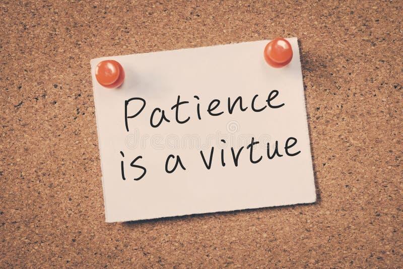 耐心是美德 免版税库存图片