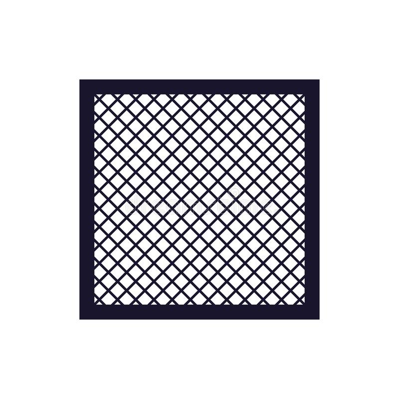 耐洗的空气过滤器象 库存例证