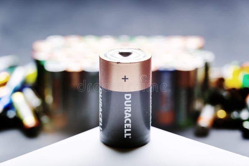 耐用D类型电池 图库摄影