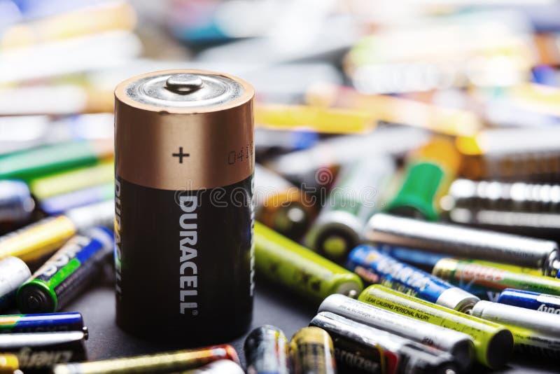 耐用D类型电池 免版税图库摄影
