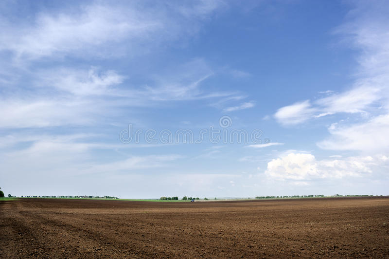 耕地天空 库存图片