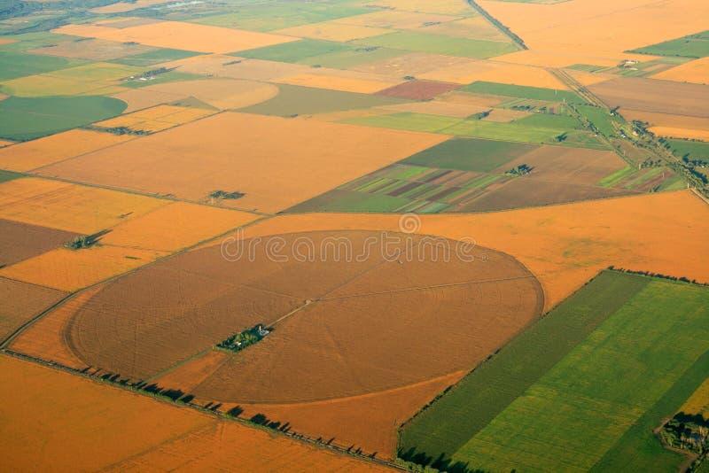 耕种的农田 免版税库存图片