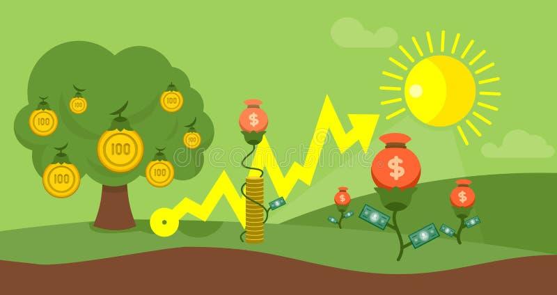 耕种资本平的设计财务概念 向量例证