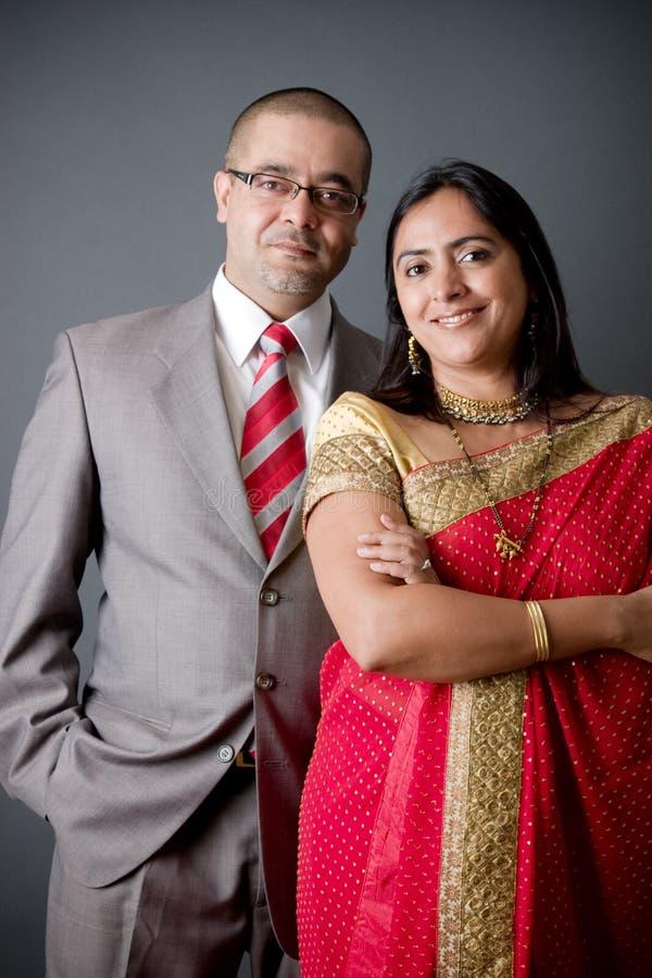 耦合东印度人 免版税库存图片
