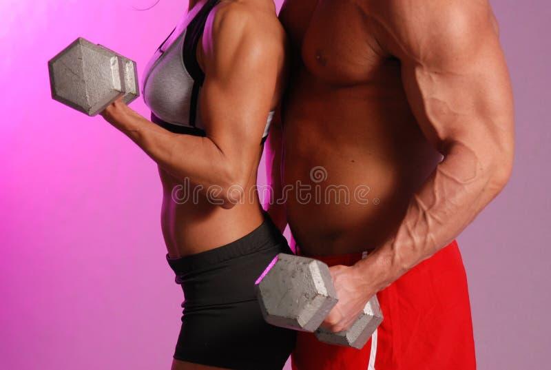 耦合健身 免版税库存照片