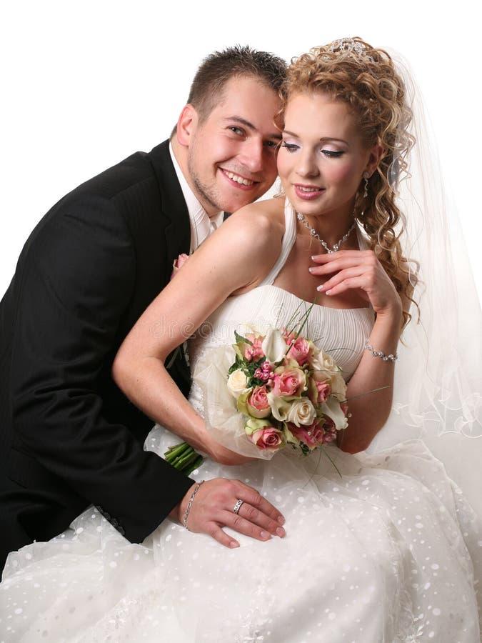 耦合婚礼 免版税库存照片