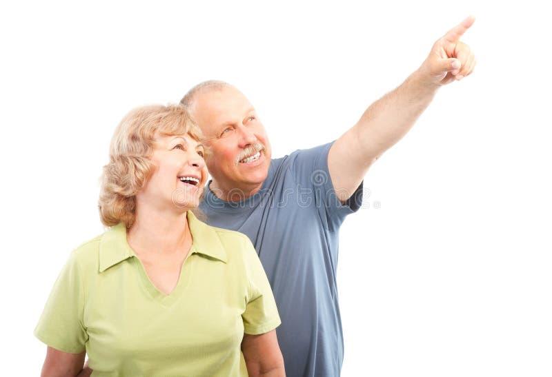 耦合年长的人 免版税库存照片