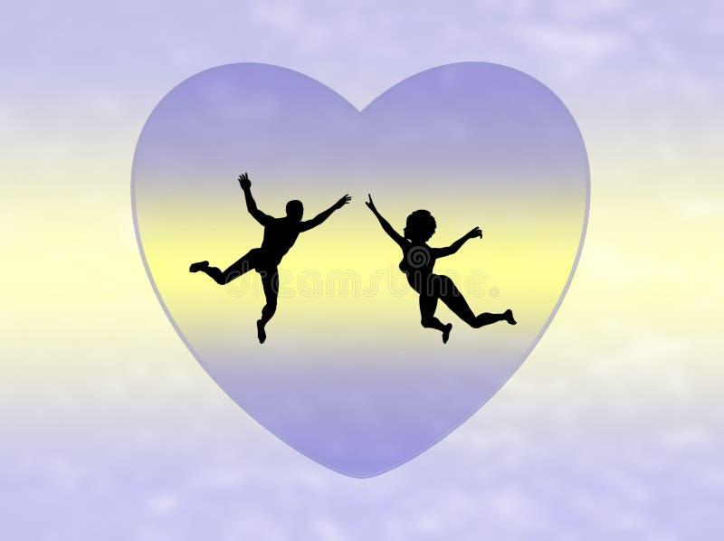 耦合爱 向量例证