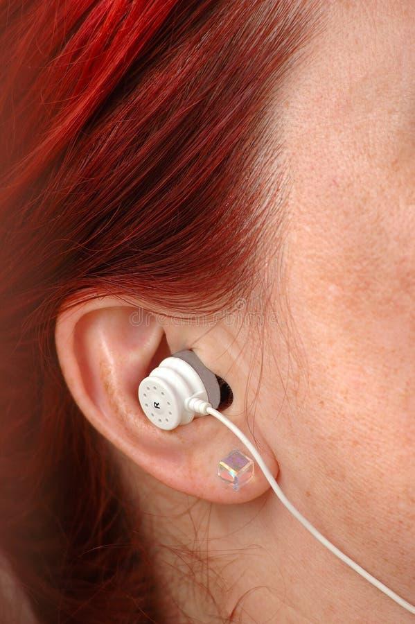 耳朵耳机 免版税库存照片