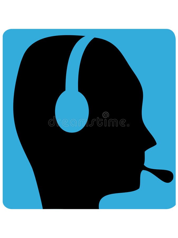 耳机人 向量例证