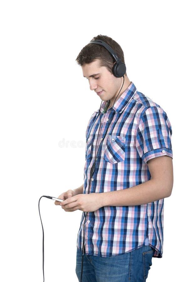 耳机和音乐 免版税库存图片