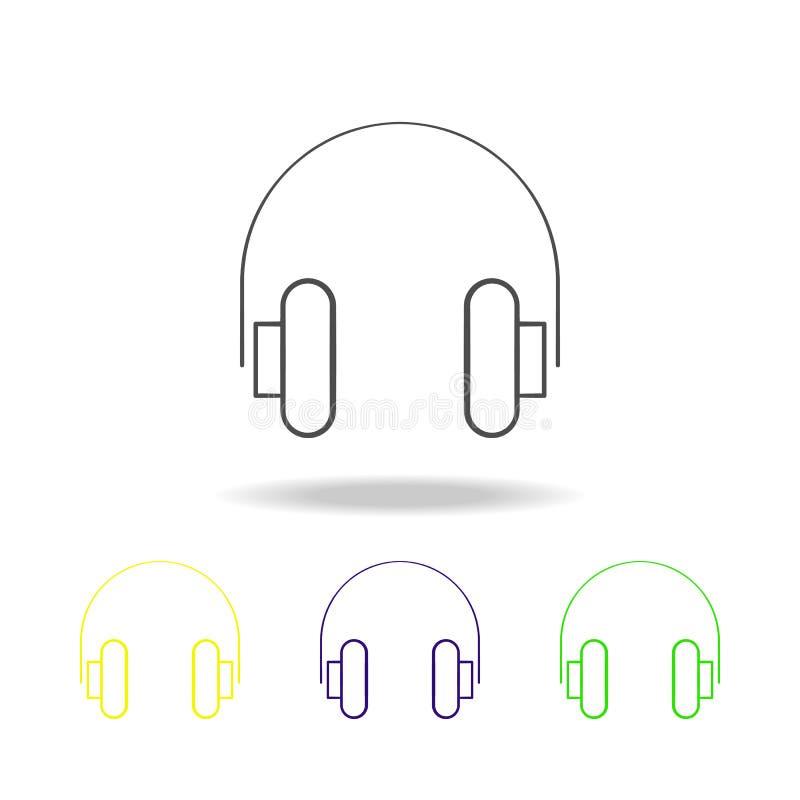 耳机多彩多姿的象 电子设备多彩多姿的象的元素 可以使用标志,标志汇集象,为了我们 皇族释放例证