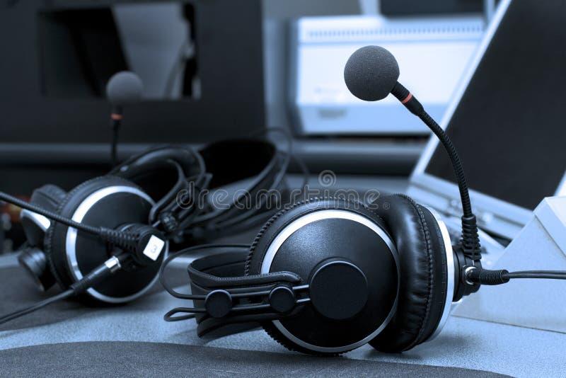 耳机收音机 库存照片