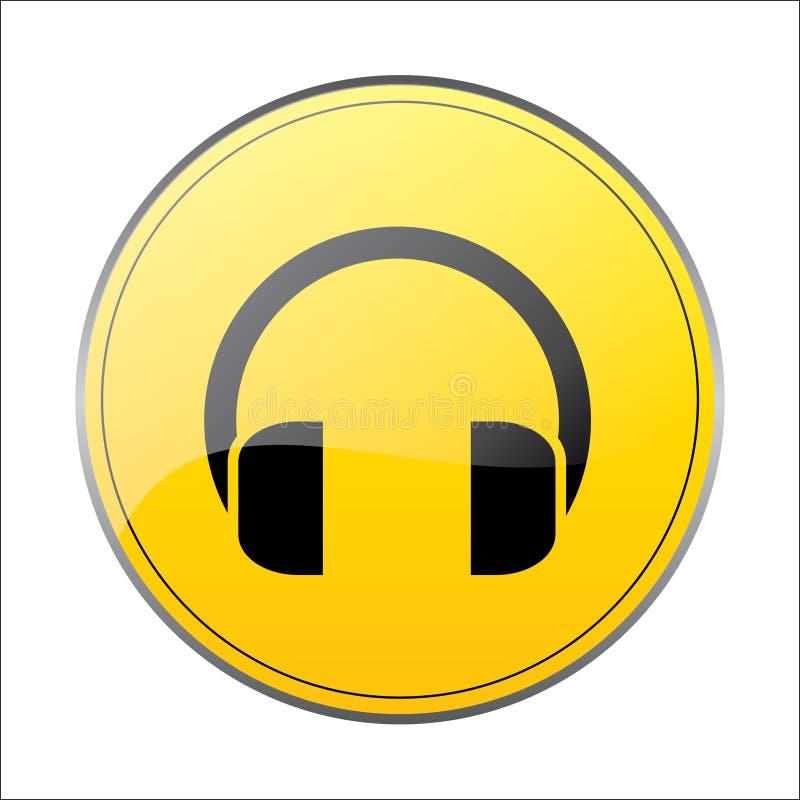 耳机电话音乐带标志 皇族释放例证
