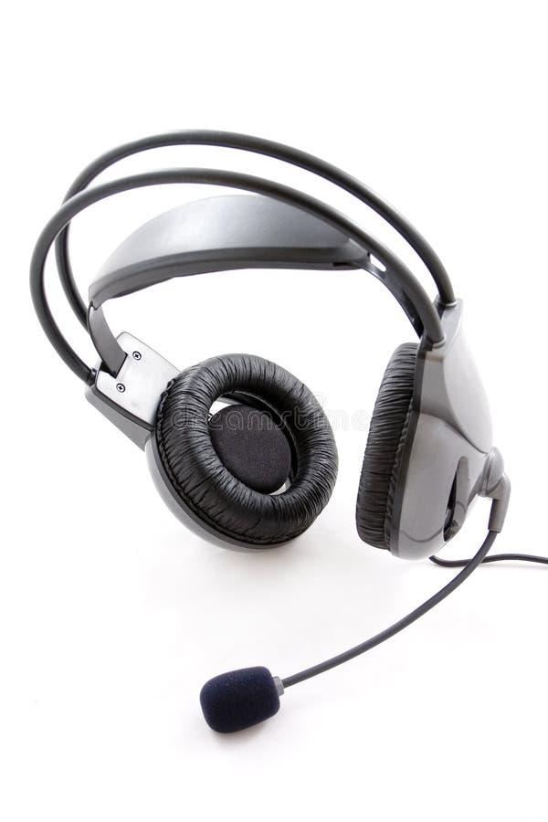 耳机话筒 免版税图库摄影