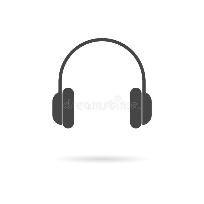 耳机象传染媒介 库存例证
