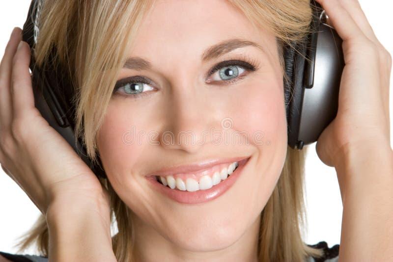 耳机青少年佩带 免版税库存照片