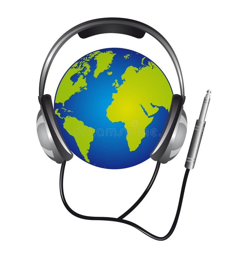 耳机 库存例证