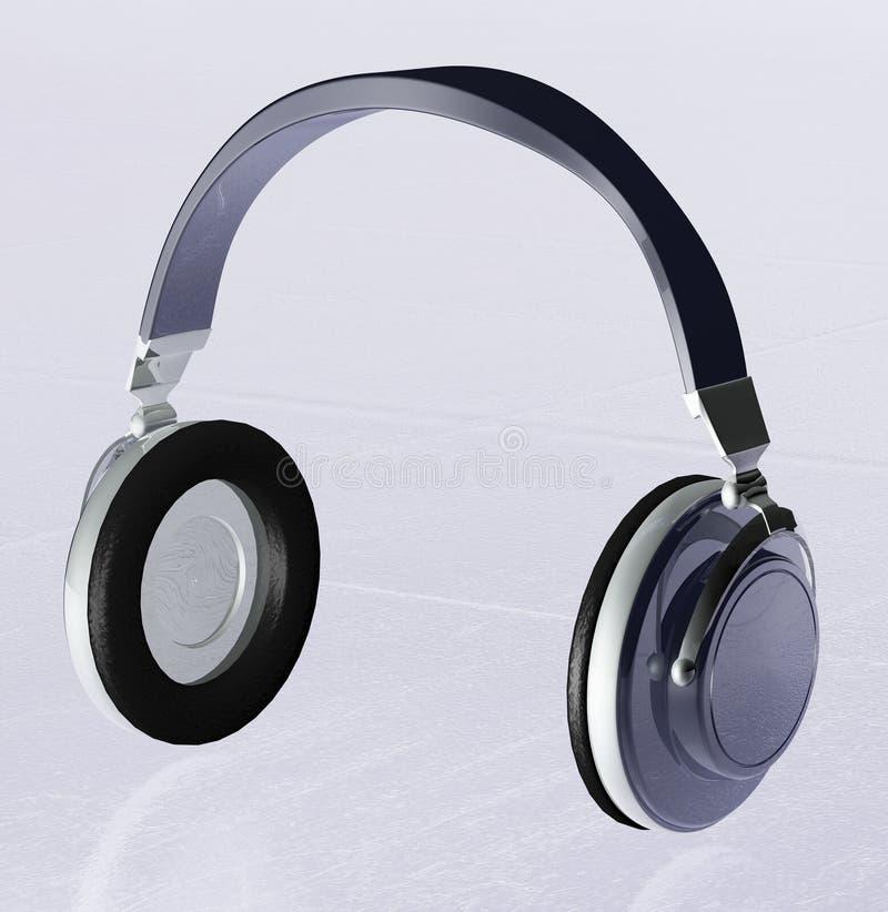 耳机3d 免版税图库摄影