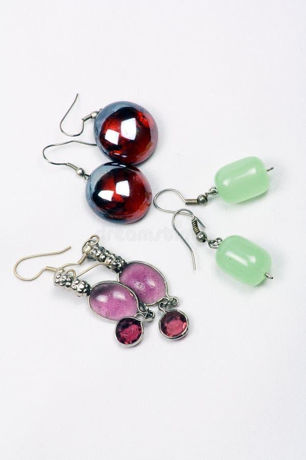 耳环glassbead 库存照片