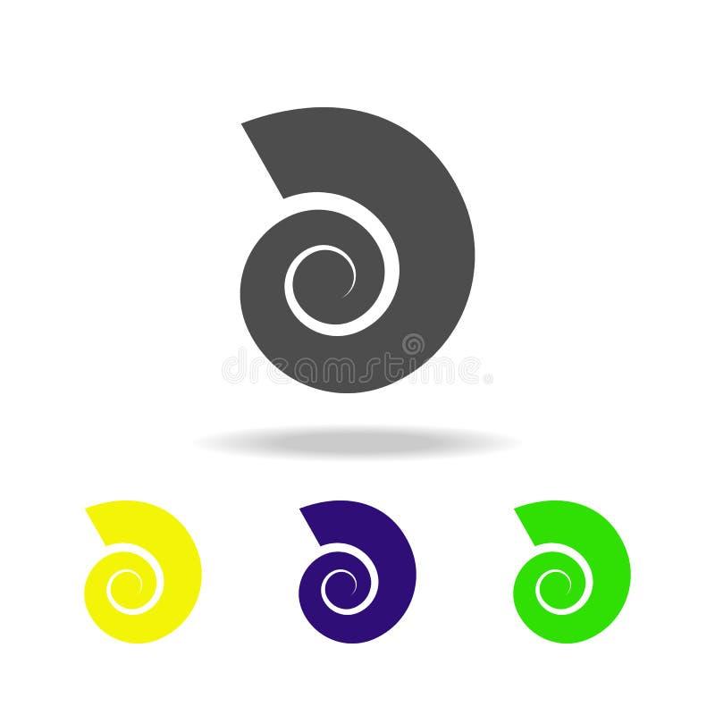 耳蜗多彩多姿的象的壳 海滩假日多彩多姿的象的元素可以为网,商标,流动应用程序,UI,U使用 库存例证