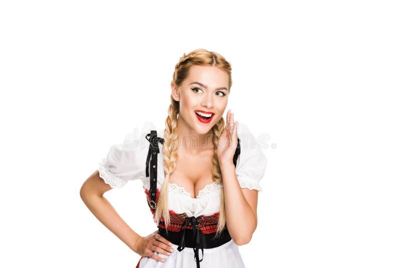 耳语的德国女孩 免版税库存图片