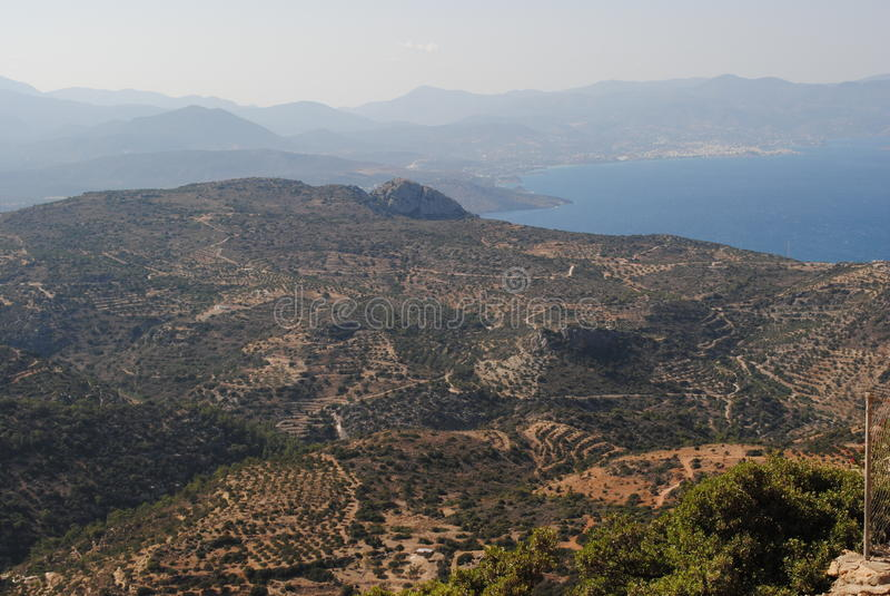耶拉派特拉,贴水尼古拉什,克利特,希腊 免版税库存图片