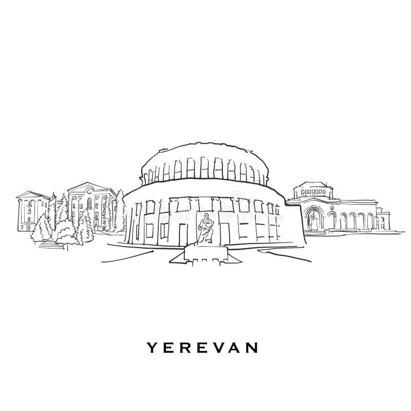 耶烈万亚美尼亚著名建筑学 皇族释放例证