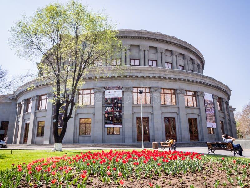 耶烈万歌剧剧院 免版税库存照片