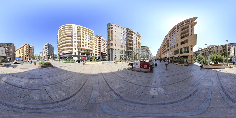 耶烈万360度虚拟现实照片 免版税图库摄影