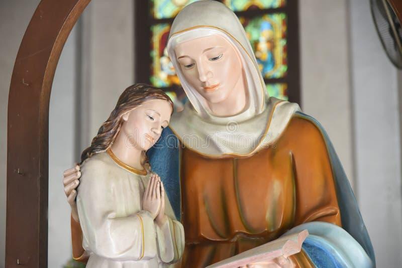 耶稣・玛丽贞女 免版税库存图片