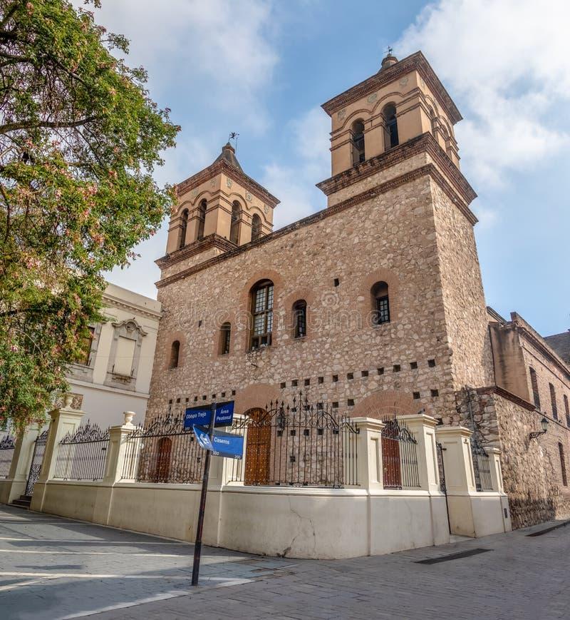 耶稣会Iglesia de la Manzana Jesuitica块的-科多巴,阿根廷Compania德赫苏斯的阴险的人教会 图库摄影